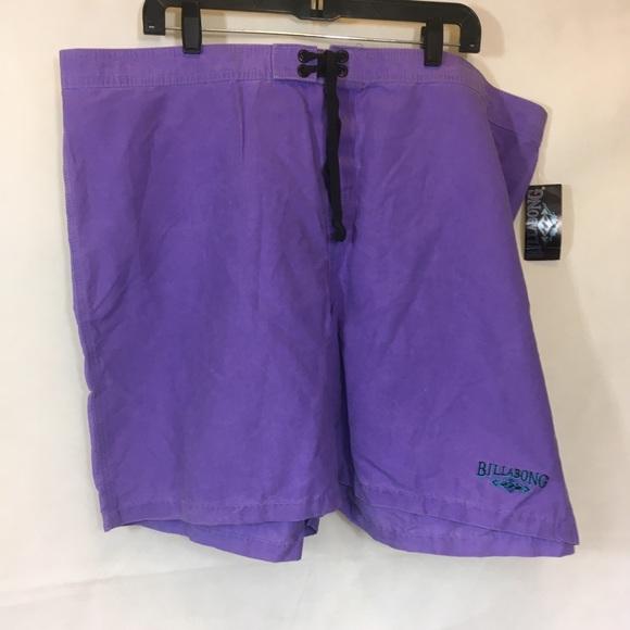 Mens NWT VTG 90's Billabong Purple Board Shorts